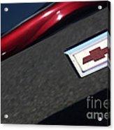 67 Black Camaro Ss Bow Tie Acrylic Print