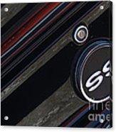 67 Black Camaro Ss Gas Tank-8019 Acrylic Print
