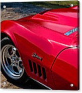 69 Red Detail Acrylic Print