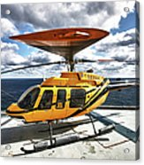 A Bell 407 Utility Helicopter Acrylic Print