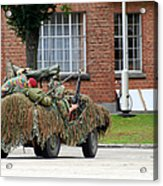 A Recce Or Scout Team Of The Belgian Acrylic Print