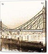 Albert Bridge London Acrylic Print