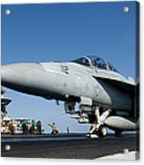 An Fa-18f Super Hornet Launches Acrylic Print by Stocktrek Images