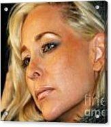 Blond Woman Acrylic Print