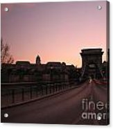 Budapest By Night Acrylic Print