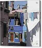 Burano.venice Acrylic Print by Bernard Jaubert