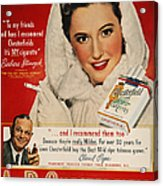 Chesterfield Cigarette Ad Acrylic Print by Granger