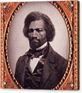 Frederick Douglass African-american Acrylic Print by Photo Researchers
