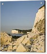 Morning At The White Cliffs Of Dover Acrylic Print