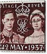 old British postage stamp Acrylic Print