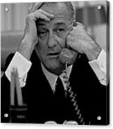 President Lyndon Johnson Acrylic Print