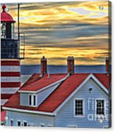 West Quoddy Head Lighthouse 3822 Acrylic Print