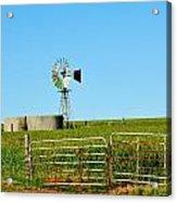 Windmill Water Pump Acrylic Print