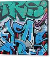 Abstract Graffiti On The Textured Wall Acrylic Print
