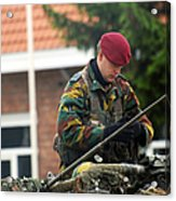 Members Of A Recce Or Scout Team Acrylic Print by Luc De Jaeger
