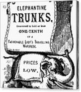 Mortised Cut, 19th Century Acrylic Print