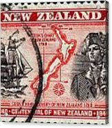 old New Zealand postage stamp Acrylic Print