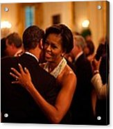 President And Michelle Obama Dance Acrylic Print