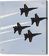 The Blue Angels Perform Aerial Acrylic Print