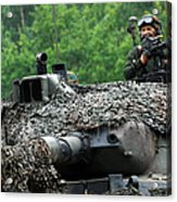 The Leopard 1a5 Main Battle Tank Acrylic Print by Luc De Jaeger