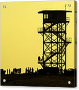 82nd Airborne Division Soldiers Gather Acrylic Print