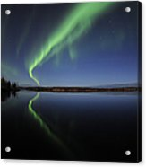 Aurora Borealis Over Long Lake Acrylic Print