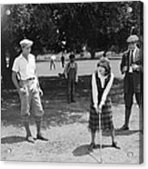 Silent Film Still: Golf Acrylic Print
