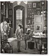 Silent Film Still: Offices Acrylic Print