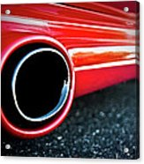 94 Vette Side Pipes Acrylic Print