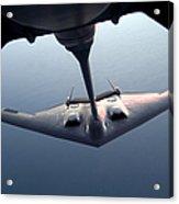 A B-2 Spirit Bomber Conducts Acrylic Print