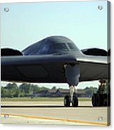 A B-2 Spirit Taxis Onto The Flightline Acrylic Print
