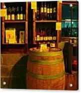 A Barrel And Wine Acrylic Print