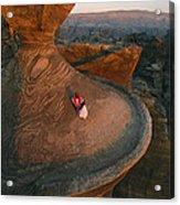 A Bedouin Surveys The View Acrylic Print