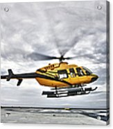 A Bell 407 Utility Helicopter Prepares Acrylic Print