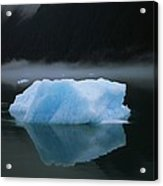 A Blue Iceberg And Its Reflection Acrylic Print