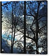 A Blue Winter's Eve Acrylic Print
