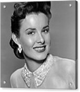 A Blueprint For Murder, Jean Peters Acrylic Print by Everett