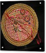 A Bowl Of Rakhis In A Decorated Dish Acrylic Print
