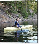 A Boy Kayaking Acrylic Print