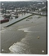 A Breech In A New Orleans Levee Floods Acrylic Print by Everett