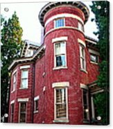A Brick House With A Turret Acrylic Print