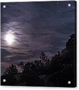A Bright Moon Rises Through Clouds Acrylic Print