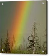 A Brilliantly Colored Rainbow Ends Acrylic Print