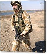 A British Army Soldier On Patrol Acrylic Print