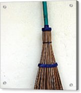 A Broom Stick On The Wall Acrylic Print