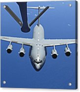 A C-17 Globemaster IIi Approaches Acrylic Print by Stocktrek Images