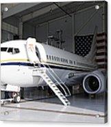 A C-40 Clipper In A Hangar Acrylic Print