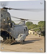 A Ch-46 Sea Knight And Mi-8 Helicopter Acrylic Print