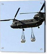 A Ch-47 Chinook Carrying Sandbags Acrylic Print