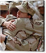 A Chief Master Sergeant Consoles Acrylic Print by Stocktrek Images
